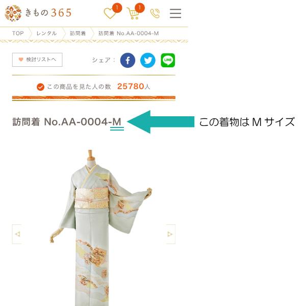 着物のサイズ